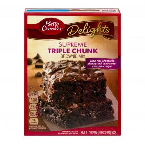 Betty Crocker Supreme Triple Chunk Brownie Mix