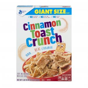 General Mills Giant Size Cinnamon Toast Crunch