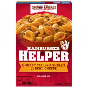 Betty Crocker Hamburger Helper Cheesy Italian Shells
