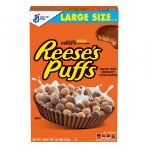 General Mills Reese's Peanut Butter Puffs Cereal Large Size