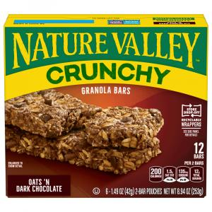 Nature Valley Crunchy Dark Chocolate Granola Bars