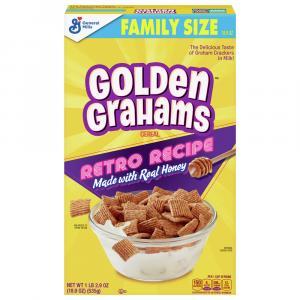 General Mills Golden Grahams Retro Cereal Family Size