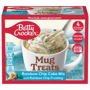 Betty Crocker Mug Treats Rainbow Chip Cake Mix