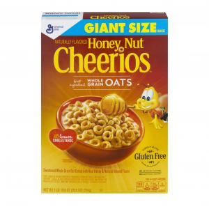 General Mills Giant Size Honey Nut Cheerios Cereal