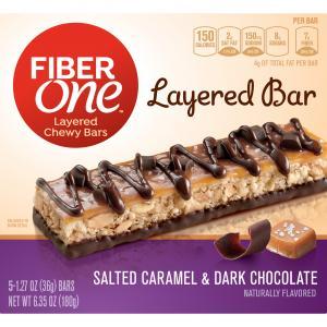 Fiber One Salted Caramel Dark Chocolate Bars