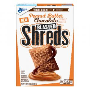 General Mills Peanut Butter Chocolate Blasted Shreds