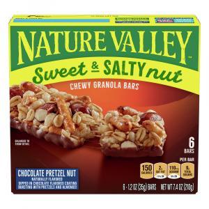 Nature Vallley Chocolate Pretzel Nut Bars