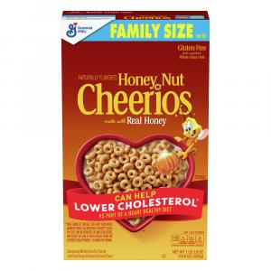 General Mills Honey Nut Cheerios Cereal Family Size
