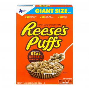 General Mills Giant Size Reese's Peanut Butter Puffs Cereal
