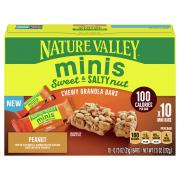 Nature Valley Minis Sweet & Salty Peanut Chewy Granola Bars