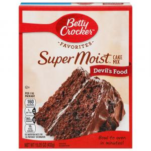 Betty Crocker SuperMoist Devil's Food Cake Mix