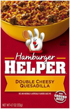 Betty Crocker Hamburger Helper Double Cheesy Quesadilla