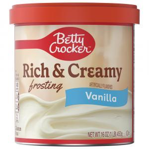Betty Crocker Rich & Creamy Vanilla Frosting