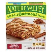 Nature Valley Soft Baked Oatmeal Squares w/Cinnamon Brown Sg