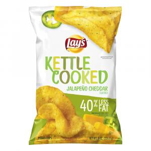 Lay's Kettle Cooked Jalapeno Cheddar Flavored Potato Chips