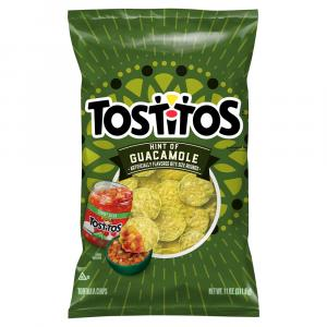 Tostitos Hint Of Guacamole Flavored Tortilla Chips