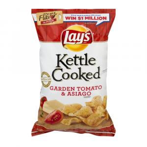 Lay's Kettle Cooked Tomato & Asiago Chips