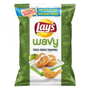 Lay's Fried Green Tomato Flavored Potato Chips