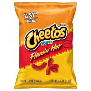 Cheetos Puffs Flamin' Hot Cheese Flavored Snacks
