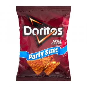 Doritos Spicy Nacho Tortilla Chips Party Size