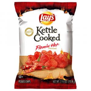 Lay's Kettle Cooked Flamin' Hot Potato Chips