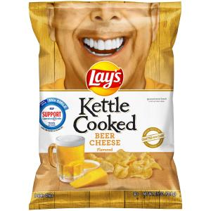Lay's Kettle Cooked Beer Cheese Potato Chips