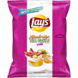 Lay's Flamin' Hot Dill Pickle Remix Potato Chips