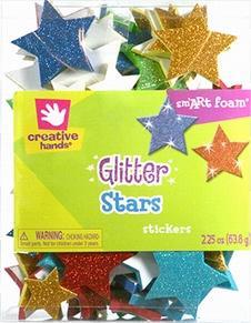 Creative Hands Glitter Stars Stickers