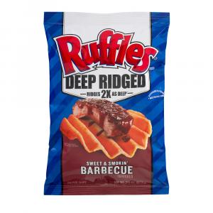 Ruffles Deep Ridged Sweet & Smokin' Barbecue Chips