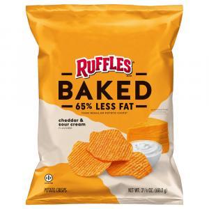 Ruffles Baked Cheddar & Sour Cream Potato Crisps