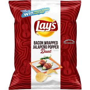 Lay's Bacon Wrapped Jalapeno Popper Flavored Potato Chips