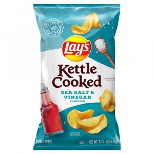 Lay's Kettle Cooked Sea Salt & Vinegar Chips
