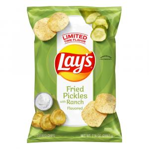 Lay's Fried Pickles with Ranch Flavored Potato Chips
