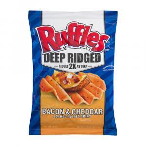 Ruffles Deep Ridged Bacon & Cheddar Loaded Potato Skins Chip