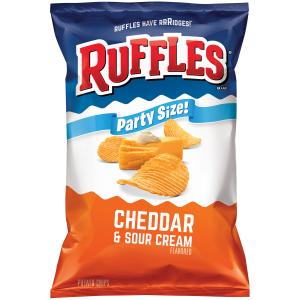Ruffles Party Size Cheddar & Sour Cream Chips