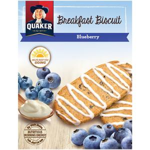 Quaker Morning Biscuits Blueberry W/yogurt Flavored Drizzle