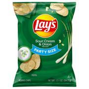 Lay's Party Size Sour Cream & Onion Potatos Chips