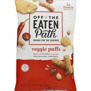 Off the Eaten Path Veggie Puffs Spicy Cheddar