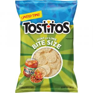 Tostitos Hint of Lime Bite Size Scoops Tortilla Chips