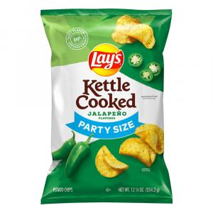 Lay's Kettle Cooked Jalapeno Chips Party Size