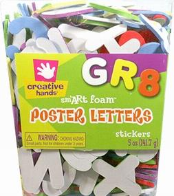 Creative Hands Poster Letters Stickers