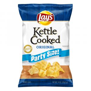 Lay's Party Size Kettle Cooked Original Potato Chips