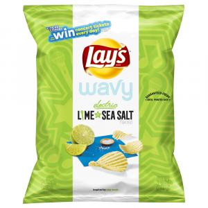 Lay's Wavy Electric Lime & Sea Salt Potato Chips