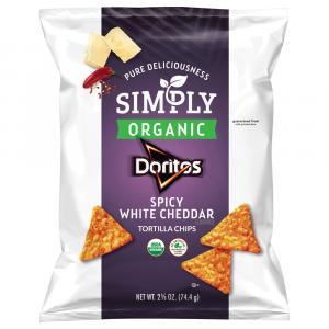 Simply Organic Spicy White Cheddar Doritos Tortilla Chips