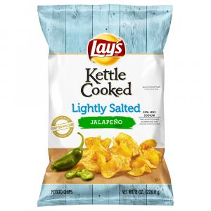 Lay's Kettle Cooked Lightly Salted Jalapeno Chips