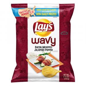 Lay's Wavy Bacon Wrapped Jalapeno Poppers
