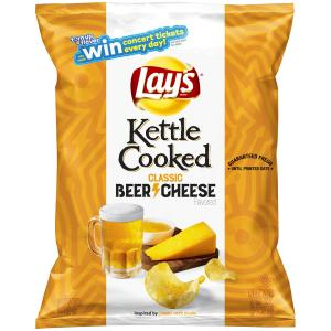 Lay's Kettle Cooked Classic Beer Cheese Potato Chips