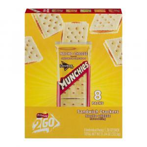 Munchies Nacho Cheese Sandwich Crackers