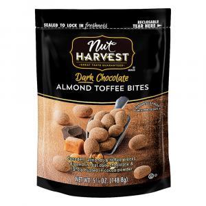 Nut Harvest Dark Chocolate Almond Toffee Bites
