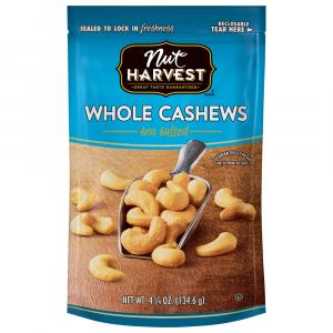 Nut Harvest Sea Salted Whole Cashews